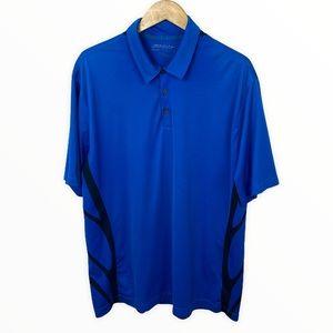 Nike Golf Blue Polo Short Sleeve Shirt Collar XXL